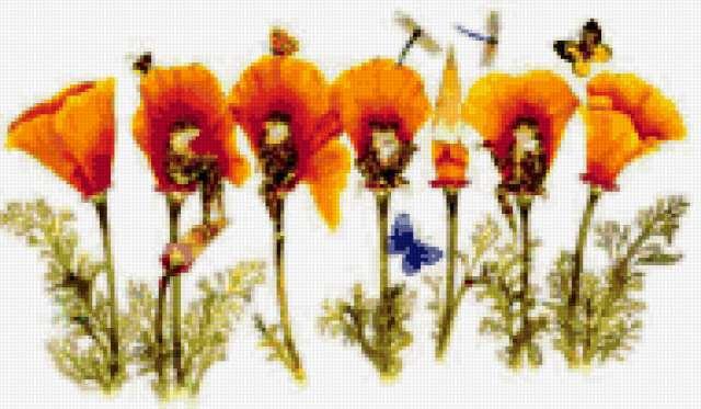 Лягушата в цветах