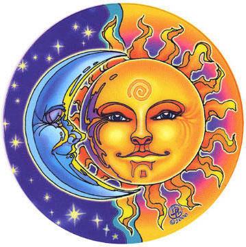 Подушка Солнце и Луна, солнце,