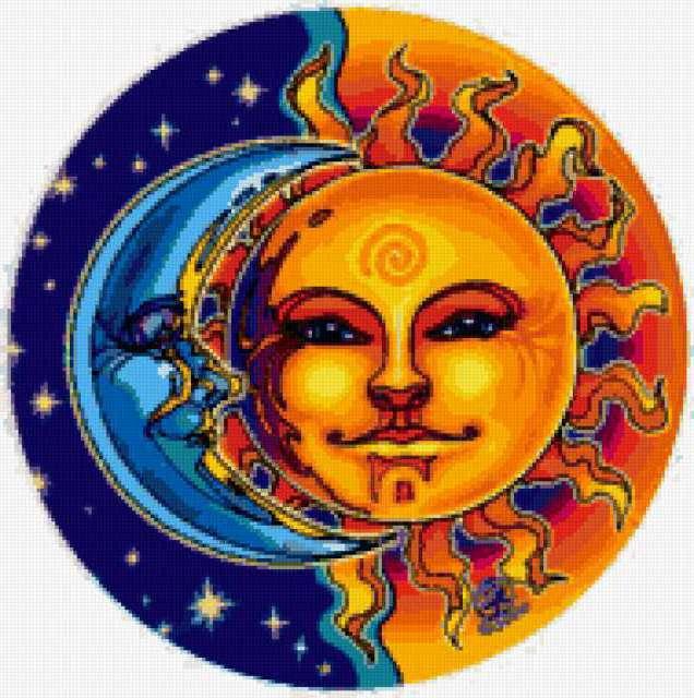 Подушка Солнце и Луна,