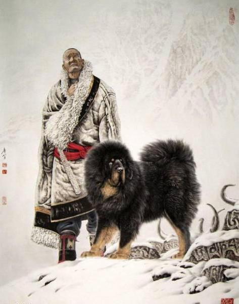 Мужчина с собакой, оригинал