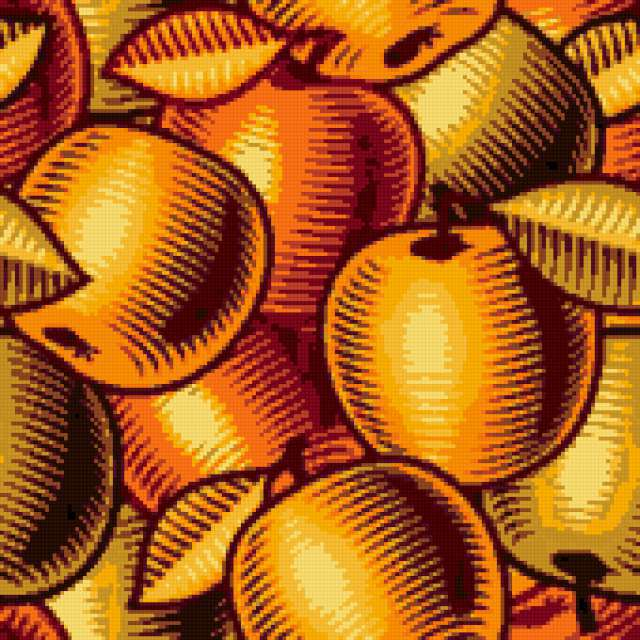 Decoration - Easy, decorative art, digital, easy, просто, colorful, apples