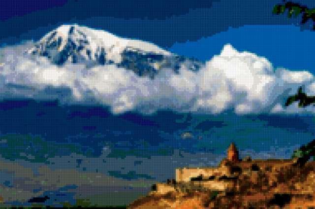 Гора арарат для вышивки