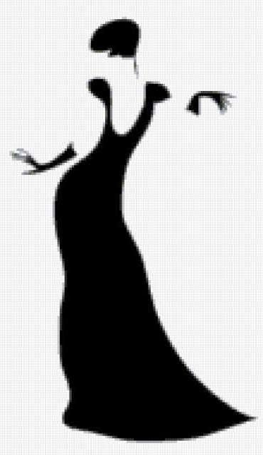 Силуэт женщины, предпросмотр