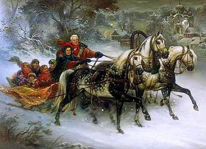 Вышивка русская зима схема