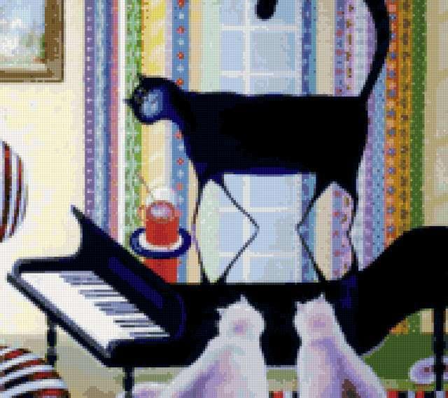 Рояль и кошки, предпросмотр