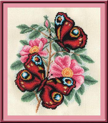 Бабочки (вышивка из бисера),