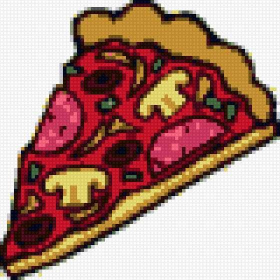 Схема пицца для вышивки