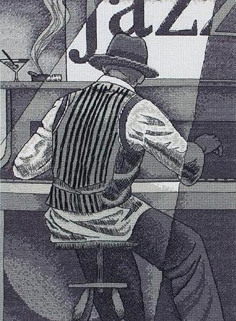 Пианист вышивка схема