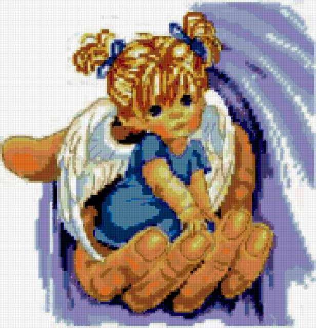 Ангел в руке, предпросмотр