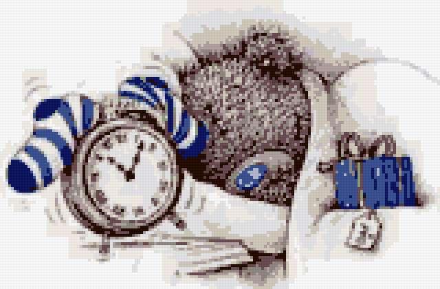 Схема вышивки «Спящий Мишка