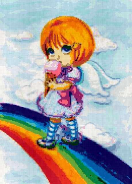 Девочка на радуге