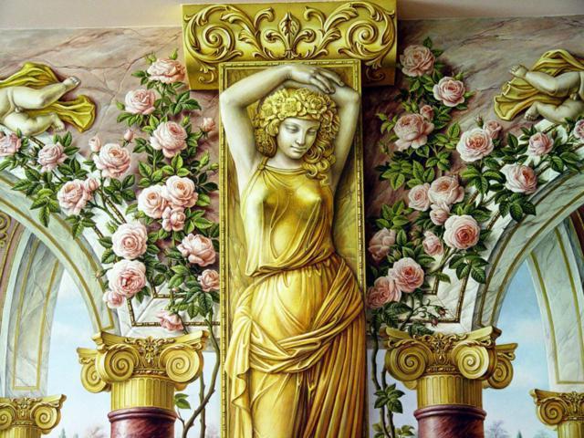 Цветы и архитектура, розы,