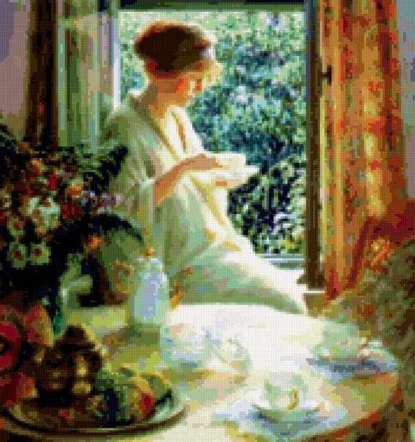 Чаепитие у окна, предпросмотр