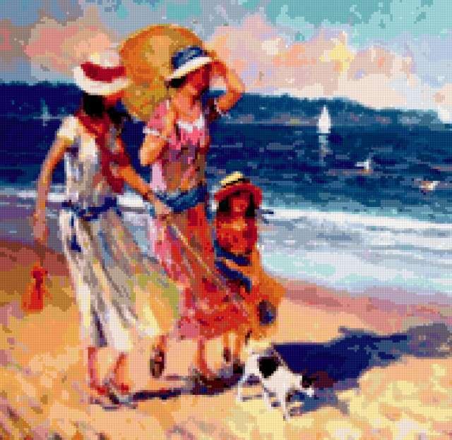 Пляжный сезон, ретро, девушка,