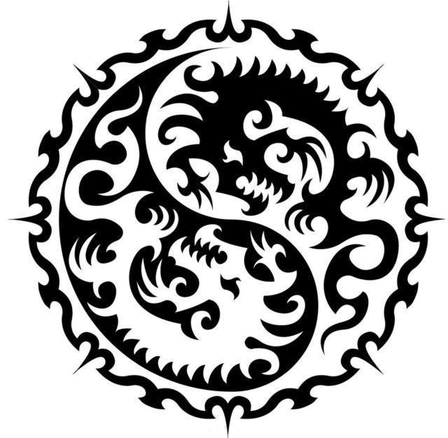 Инь ян драконы, оригинал