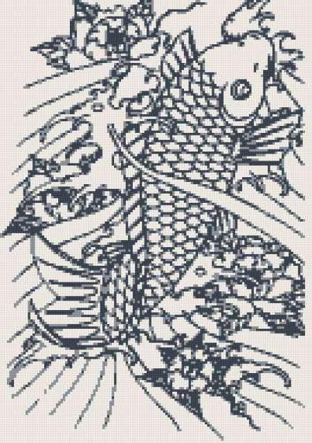 Рыба, рыба, монохром, звери
