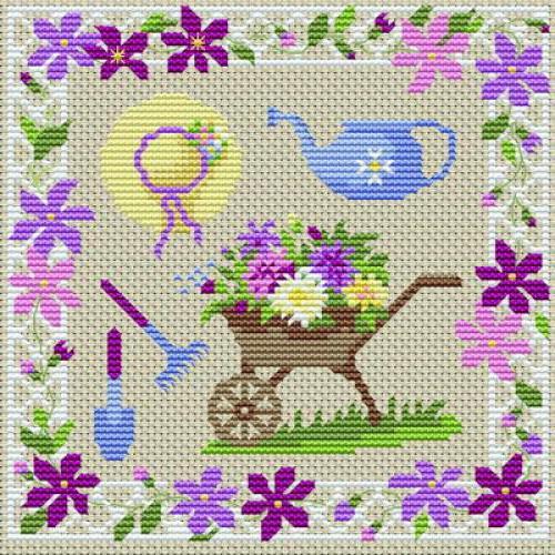 Цветы и сад, цветы и сад,