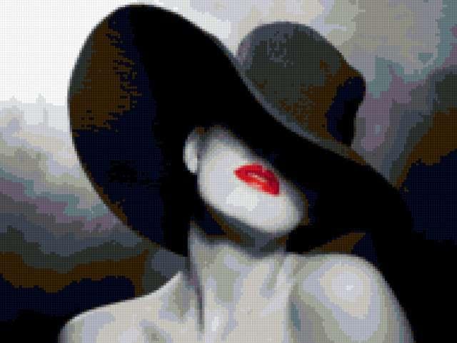 Девушка в шляпе, предпросмотр