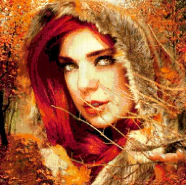 Девушка осень, предпросмотр