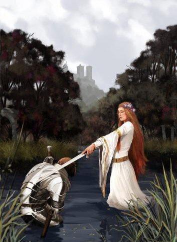 Посвящение в рыцари, оригинал