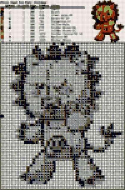 Покемоны вышивка крестом