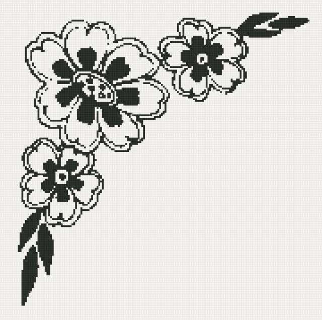 Цветы орнамент, предпросмотр