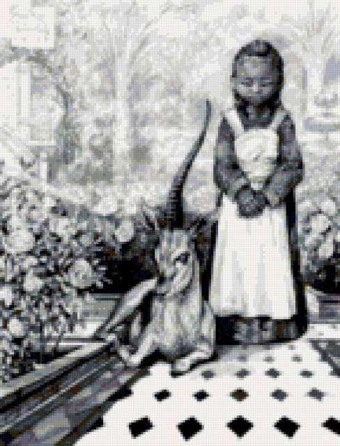 Единорог в саду, предпросмотр