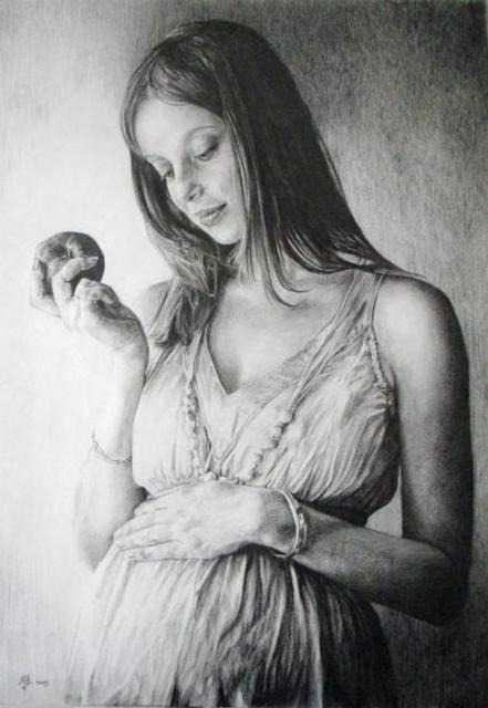 Беременная женщина, портрет