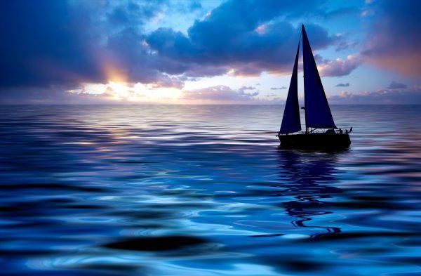 Яхта на море, яхта, море,