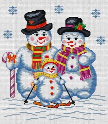 Снежная семья, оригинал