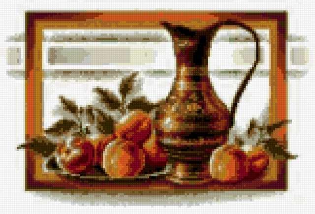 Греческая ваза с персиками,