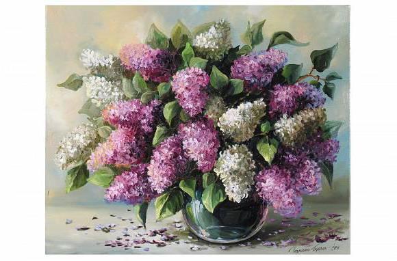Сирень, натюрморт, цветы