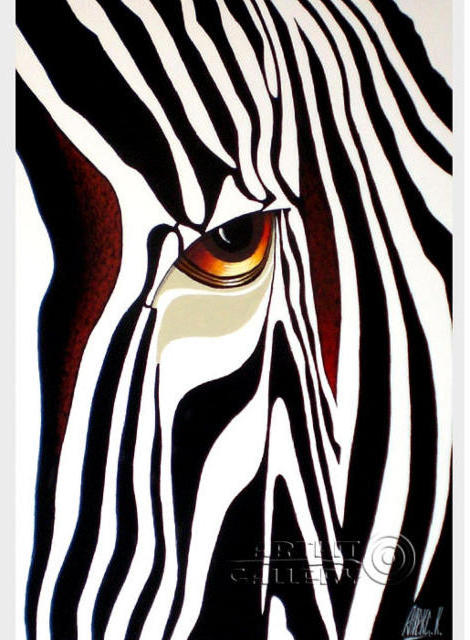 Абстракция - зебра, абстракция