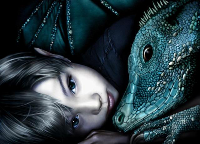 Маленький эльф и дракон,