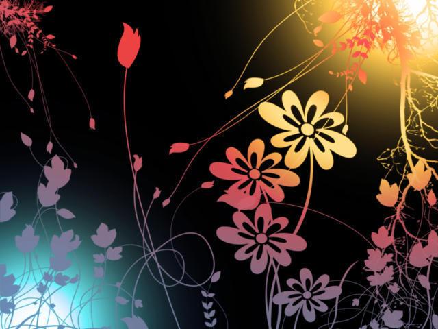 Графические цветы, оригинал