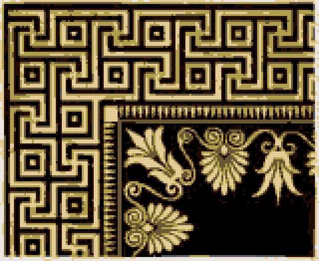 Схема вышивки «Греческий узор»