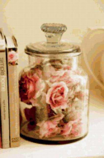 Розовый натюрморт, банка