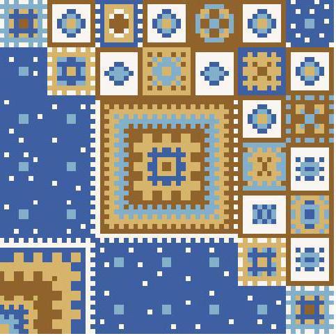 Вышивка подушки геометрический рисунок