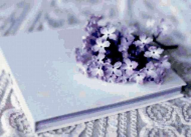 К схеме вышивки «Сиреневый