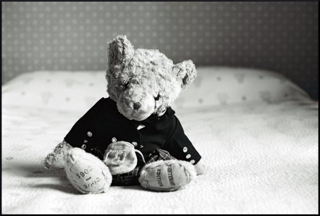 Схема вышивки «Грустный мишка»