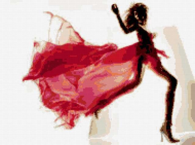 Девушка в красном сарафане,