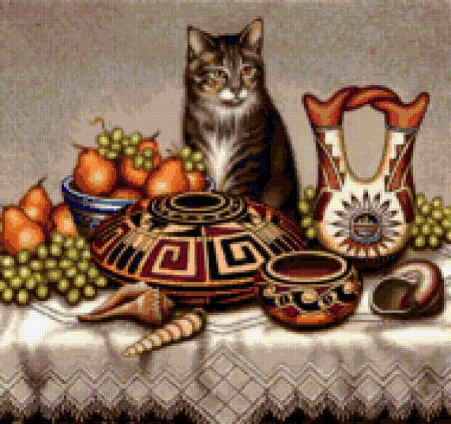 , tabby cat, still life