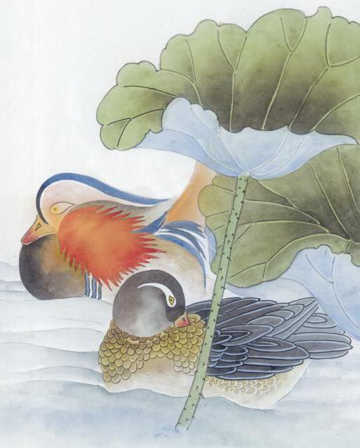 Утки мандаринки, оригинал