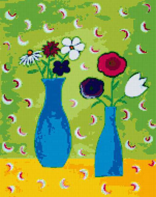 Still Life - Bright & Easy, abstract, colorful, bright, joyful, contemporary, flowers, easy, просто
