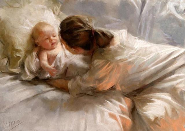 Мама и малыш, малыш