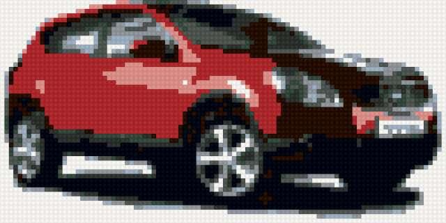 Схемы для вышивки крестиком машины