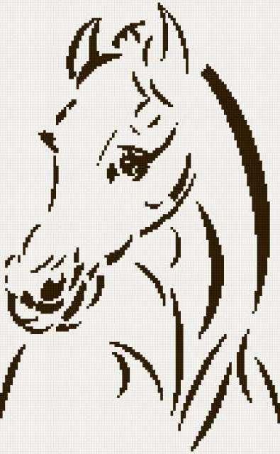 Лошадка черно-белая