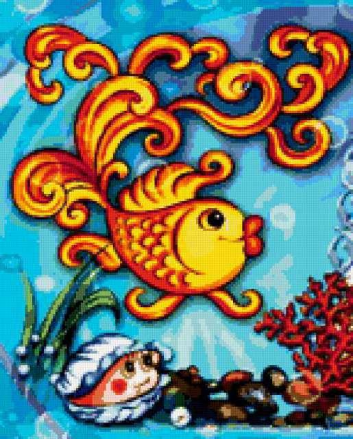 Золотая рыбка в детскую,