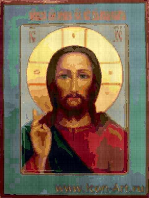 Схемы Для Вышивки Крестом Икона Господь Вседержитель