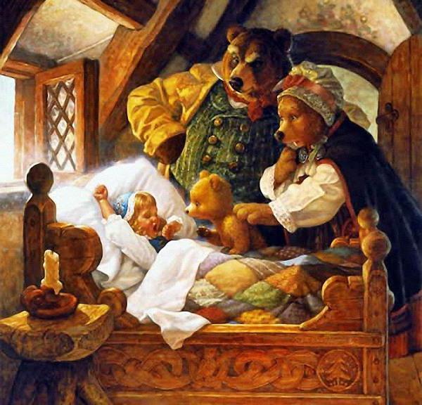 Маша и Три медведя, детям,